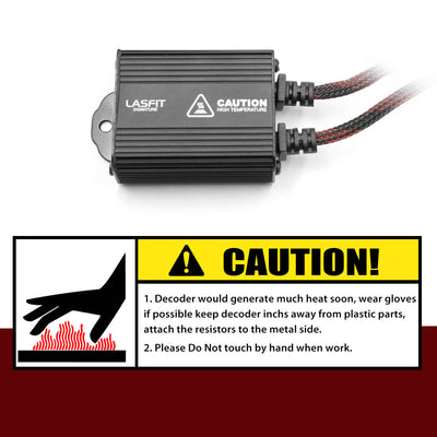 H7 LED Headlight Canbus Adapter Anti-Hyper Flash Warning Canceler