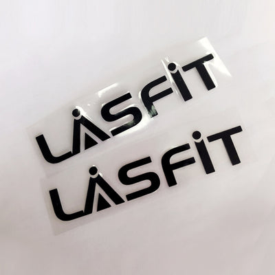 LASFIT Customized Waterproof Stickers-7.1in | Black