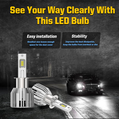 LC Plus H3 LED Fog Light Bulbs 50W 5000LM 6000K White