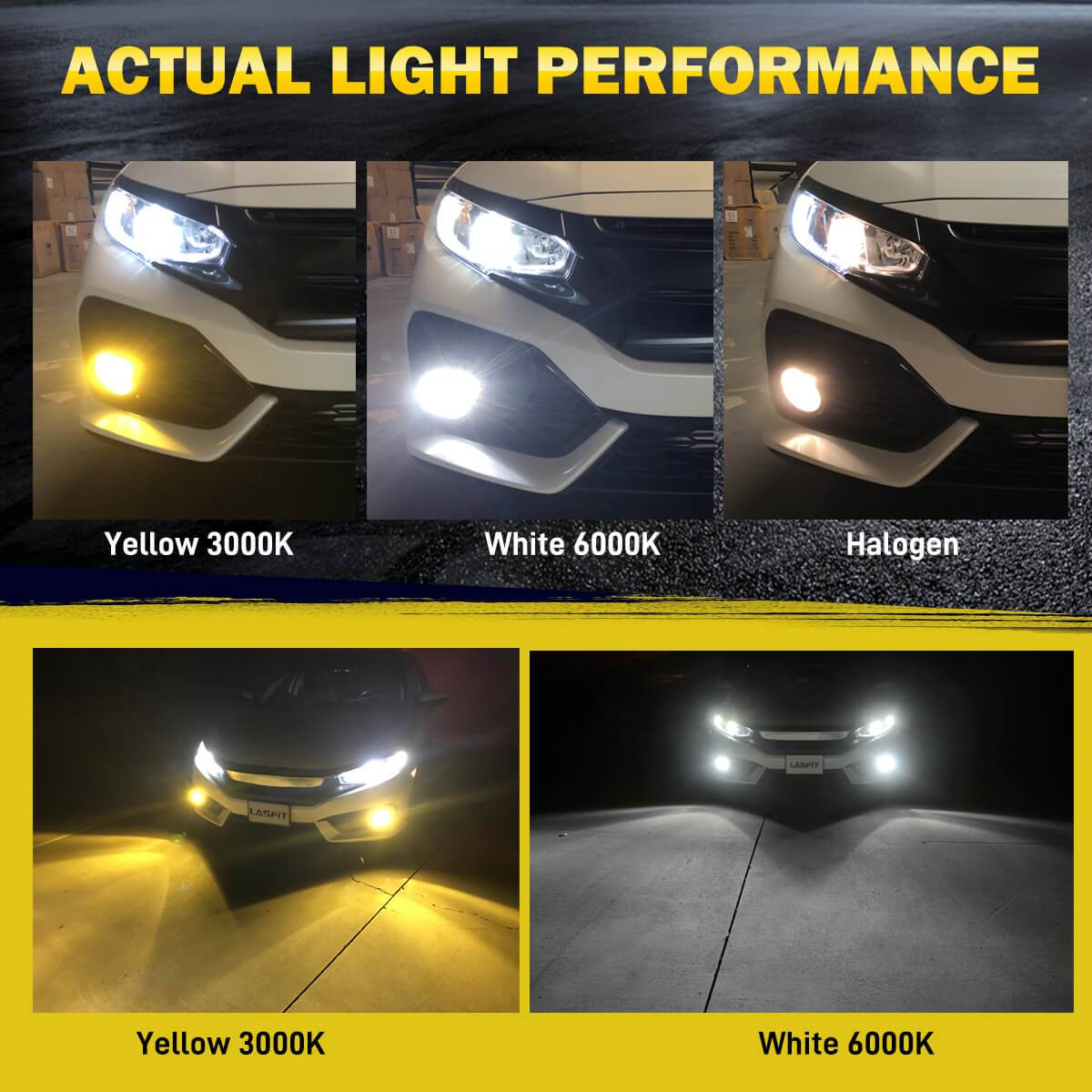 LASFIT 9006 HB4 Ultra Bright LED Fog Light Fit for RAM 1500 2013-2018 60W 6000LM