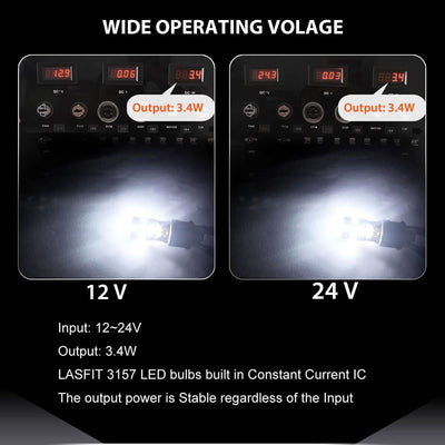 Lasfit 3156 bulb wide voltage design for stable output power
