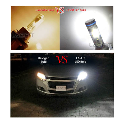 Lasfit 9005 LED bulb VS halogen bulb