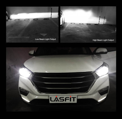 Lasfit LA 9005 high beam and low beam output