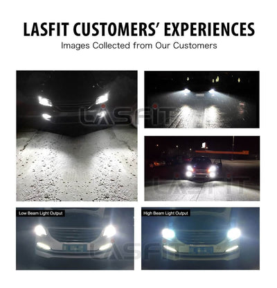 Lasfit LA 9006 customers feedback pictures of low beam and high beam