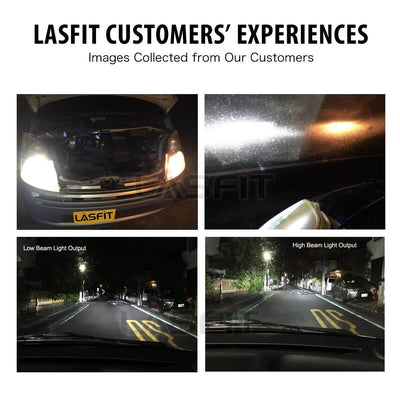 Lasfit LA 9007 customers feedback images for high low beam