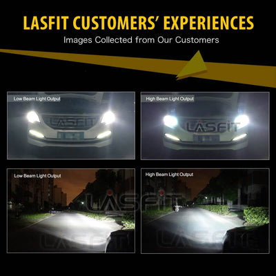 Lasfit LA series 9012 customers feedback for high beam and low beam output