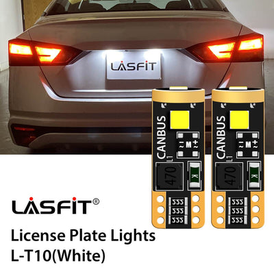 2019-2020 Nissan Altima LED License Plate Light Upgrade 6000K Bright White LASFIT