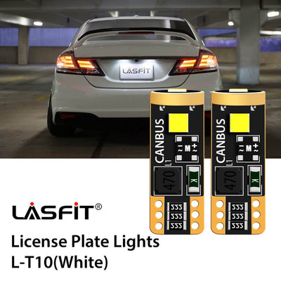 2014-2015 Honda Civic LED License Plate Light Upgrade 6000K Bright White LASFIT