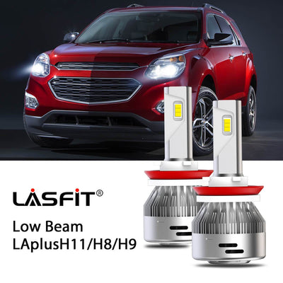 LED Headlight Bulbs Fit 2016-2017 Chevy Equinox H8 H9 H11 LASFIT