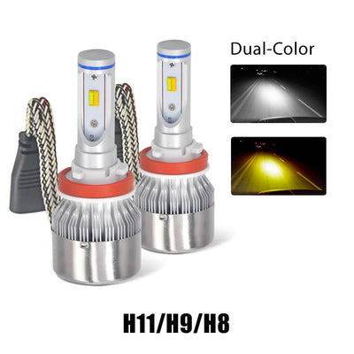 LASFIT LED Fog Light Bulbs 2 Color Modes|Package of 2 Bulbs|CY
