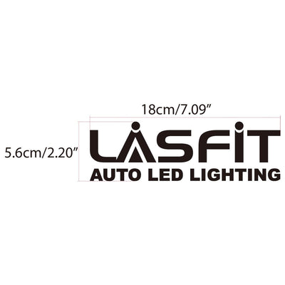 LASFIT 18cm customerized and cool quality Waterproof Stickers for Car