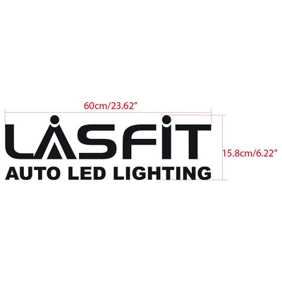 LASFIT Customized Waterproof Stickers-24in | Black