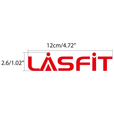 LASFIT Customized Waterproof Stickers-4.7in | Red