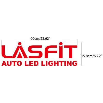 LASFIT 60cm Red Waterproof Stickers for Car