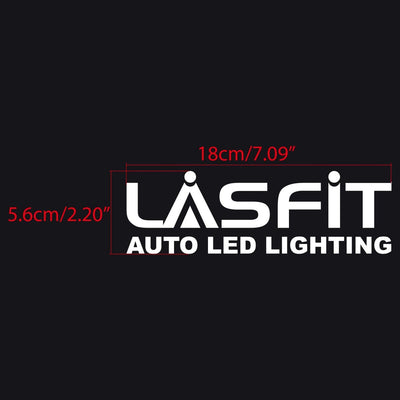 LASFIT Customized Waterproof Stickers-7.1in | White