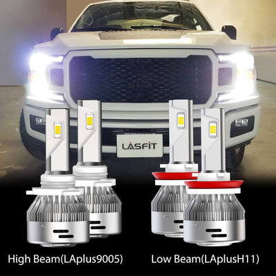 2018 Ford F-150 LED Headlight Bulbs High Low Beam Exterior Interior Lights Plug and Play