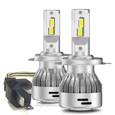 LA Plus Series 9003 H4 HB2 LED Bulbs 60W 6000LM 6000K Amplified Flux Beam|2 Bulbs