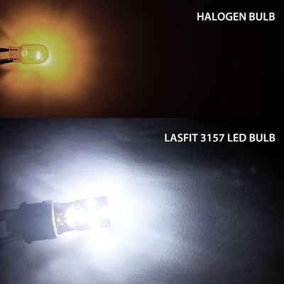 Lasfit 3156 bulb compared to halogen bulb