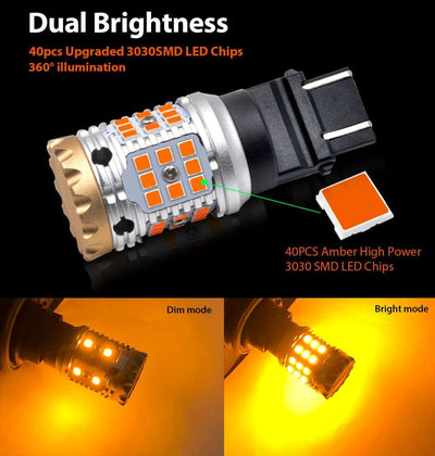 lasfit 4157 dual-brightness functions dim amber and bright amber