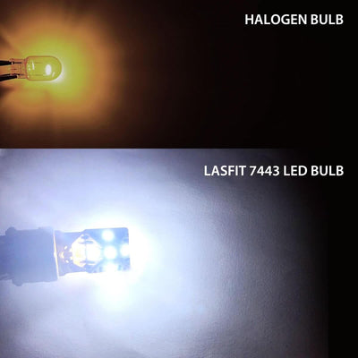 lasfit 7440 led light vs halogen bulb