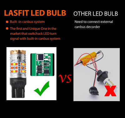 lasfit 7443NA built-in canbus system no hyper flash