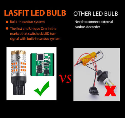 lasfit 7443 load in canbus decoder switchback LED bulb