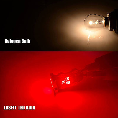 lasfit 912 red color light vs halogen bulb