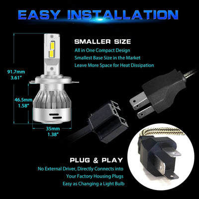 Lasfit LA plus H4 smaller size for easy installation