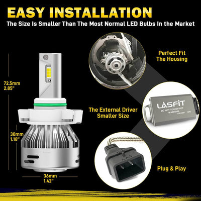 LD Plus Switchback 5202 2504 PSX24W LED Fog Light Flip Chip 60W 2 Modes|2Bulbs