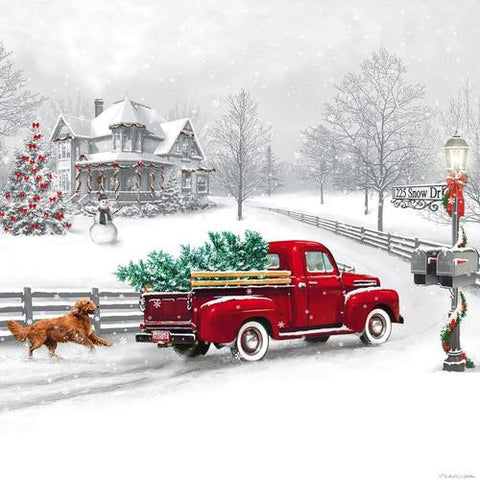 LED Canvas Wall Decor, Winter Truck