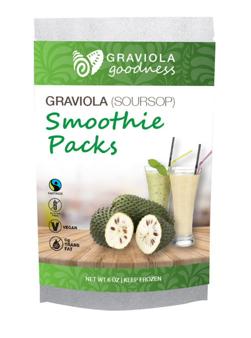 Graviola 100% Puree - 2 /2oz packs