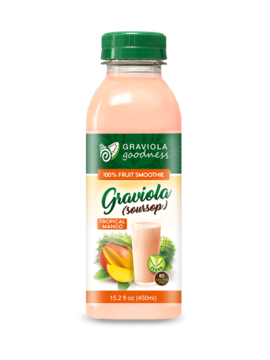 Graviola Mango 100% Fruit Smoothie - Case of 12/15.2 oz - Graviola Goodness