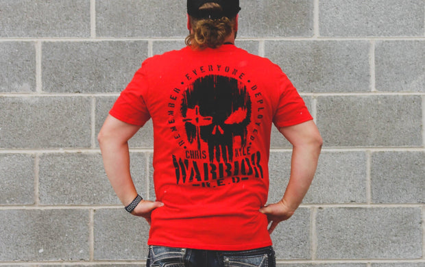 CK Warrior - R.E.D. Skull T-Shirt - Red T-shirt Stitches Ink