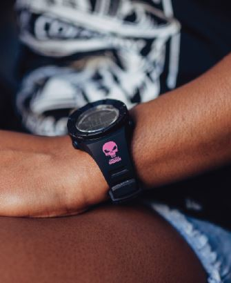 Rockwell Watch - CK Warrior (PINK LOGO) - Black Rockwell