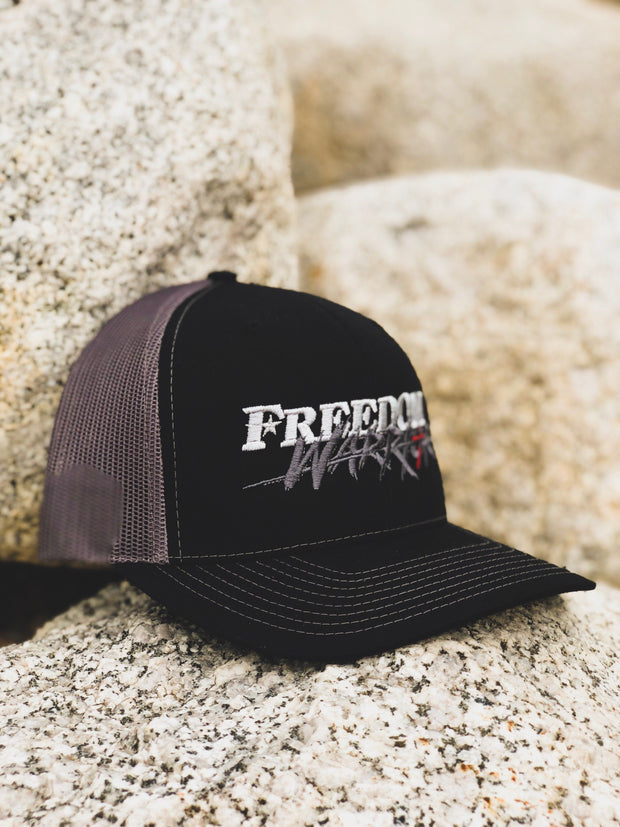 Freedom Warrior - Snapback Hat - Black / Charcoal Hat Stitches Ink
