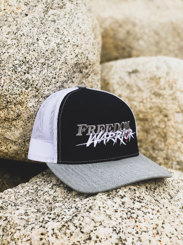 Freedom Warrior - Snapback Hat - Navy / Grey / White Hat Stitches Ink