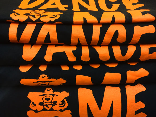 Lion Dance ME custom screen printed tees with 1 color print
