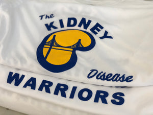 Screen printed tees for The Kidney Warriors