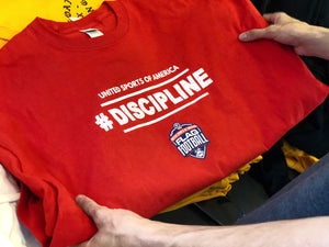 Screen printed custom tees for United Sports Of America