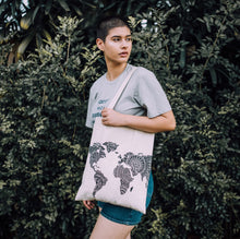Kate World Map Canvas Bag