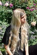 Rosanna Rainbow Zig Zag Headband on blonde girl.