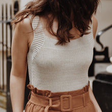 Andrea Cream Knit Top