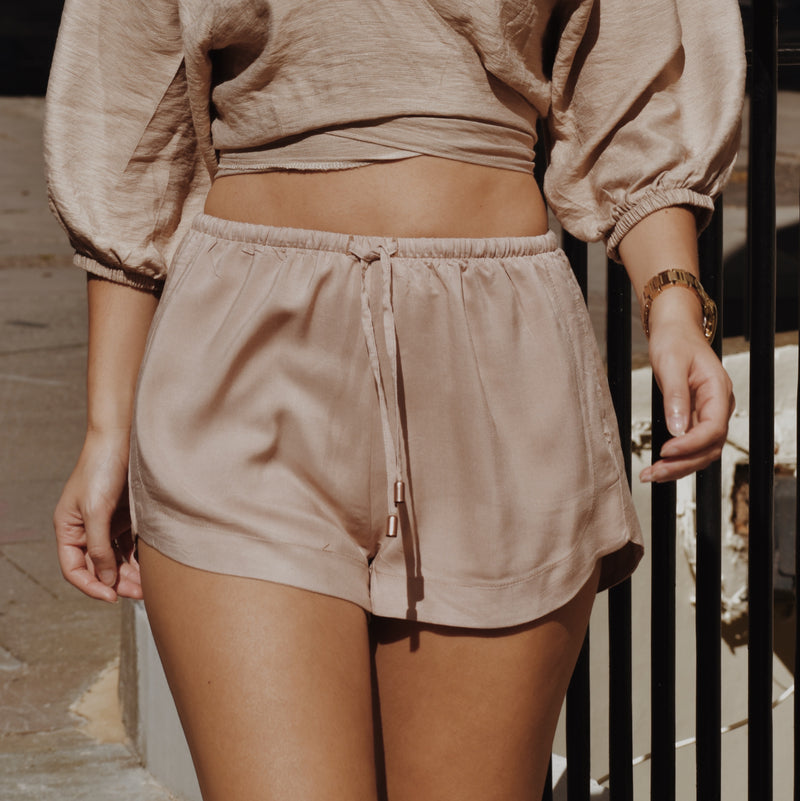 Ararose Essentials - Shorts -Muted Blush