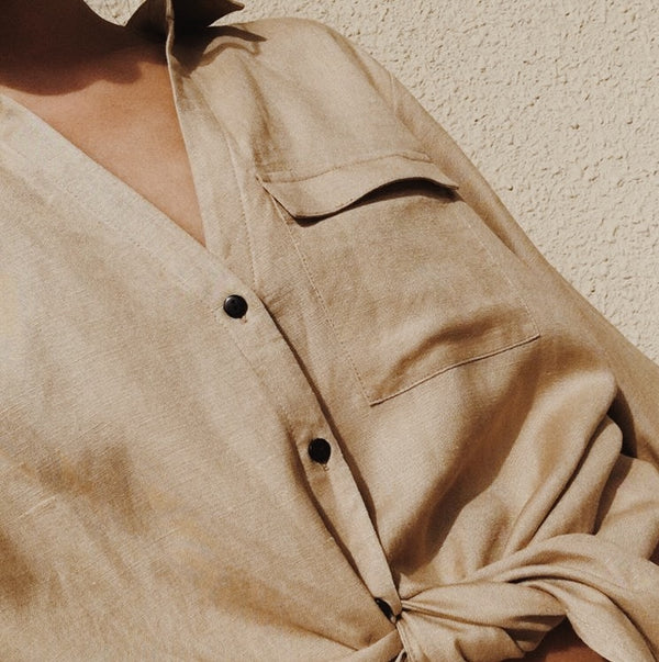 Ararose Essentials - Linen Shirt - Sand