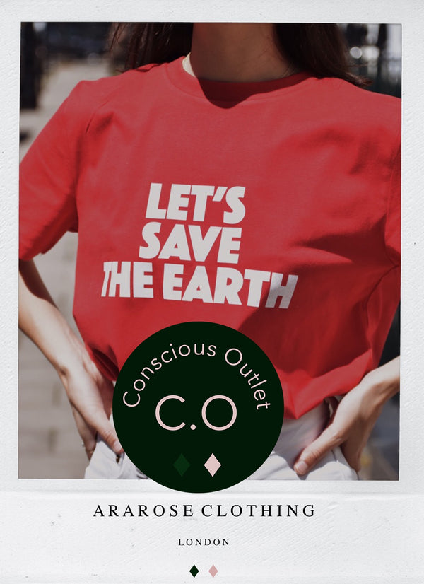 Conscious Outlet - Organic Statement Tee - Let's Save The Earth 🌳