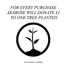 For every purchase Ararose will donate £1 to One Tree Planted