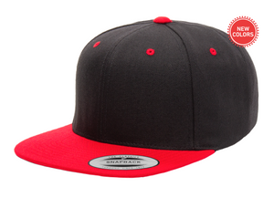 Two-Tone Red/Black 6 Panel SnapBack