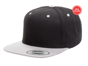Two-Tone Silver/Black 6 Panel SnapBack
