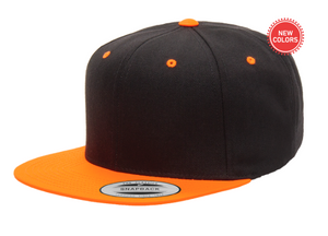 Two-Tone Orange/Black 6 Panel SnapBack