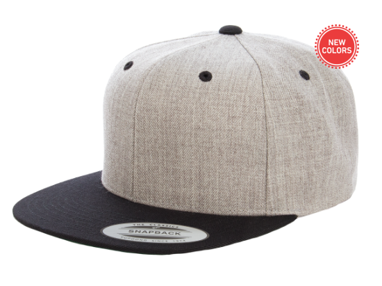 Two-Tone Grey/Black 6 Panel SnapBack